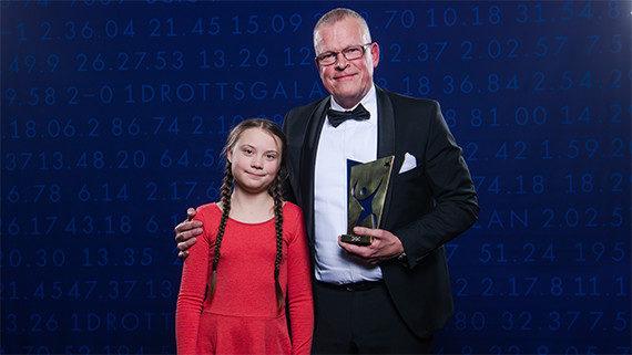 Janne Andersson & prisutdelare Greta Thunberg